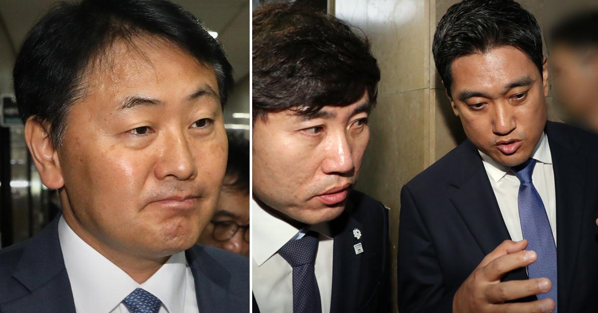 바른미래당 김관영 원내대표(왼쪽 사진)와 하태경·오신환 의원. [중앙포토·연합뉴스]