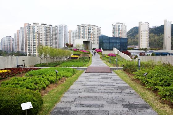 정부세종청사 옥상정원 전경. 7만9194㎡의 이 정원은 2015년 기네스북에 올랐다. [사진 행복도시건설청]