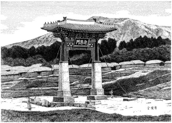김영택의 서울 영은문 복원화. [사진 김영택]