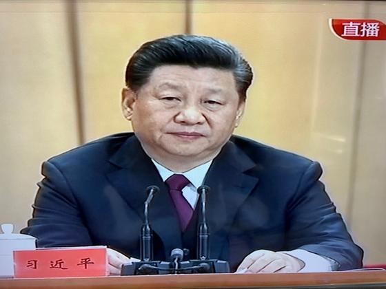 시진핑 중국 국가주석이 30일 베이징 인민대회당에서 열린 5.4 운동 100주년 기념대회에서 연설하고 있다. [중국 CCTV 캡처]