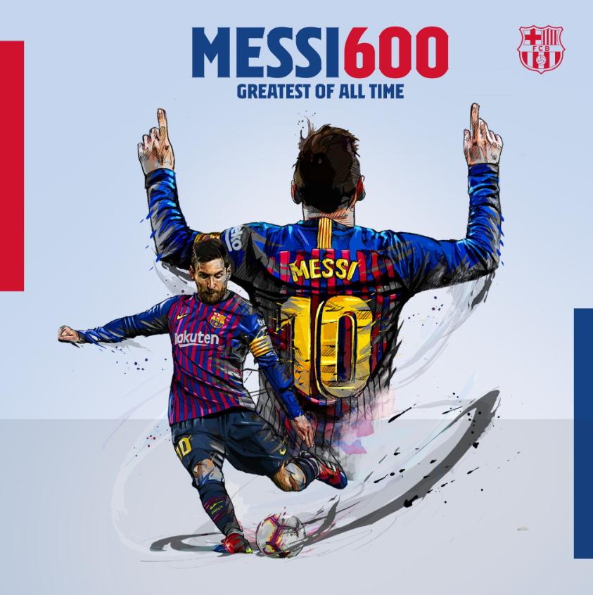 바르셀로나 메시가 2일 리버풀과 유럽 챔피언스리그 준결승 1차전에서 2골을 몰아치면서 완승을 이끌었다. 메시는 개인통산 600번째 골을 달성했다. [바르셀로나 트위터]