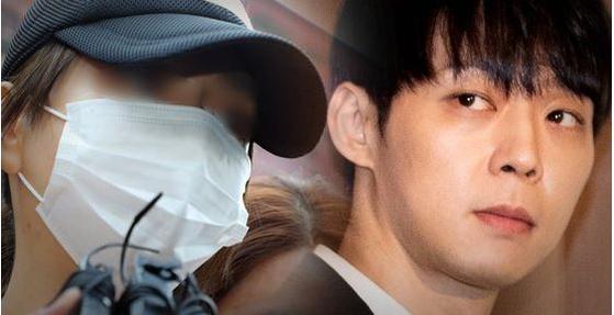 마약투약 혐의로 구속된 황하나씨(왼쪽)와 지난달 10일 기자회견에서 마약 의혹을 부인한 박유천씨. [중앙포토·연합뉴스]