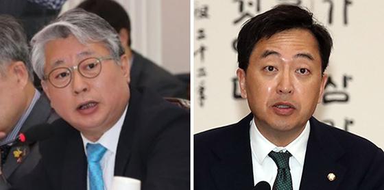 조응천(左), 금태섭(右)