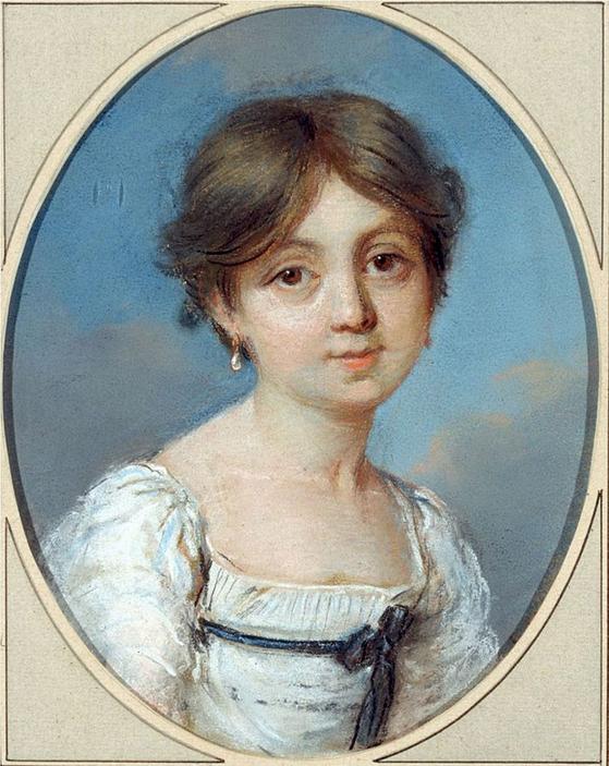 할머니가 그린 6살의 조르주 상드(George Sand). 상드의 할머니는 음악과 미술, 계몽사상 등에 조예가 깊었다. 파리 Musee de la Vie romantique 소장. [그림 Wikimedia Commons(Public Domain)]