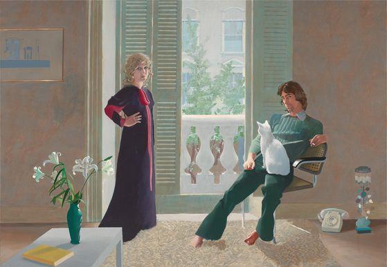 데이비드 호크니의 '클라크 부부와 퍼시(1970~1971)'. [사진 서울시립미술관]