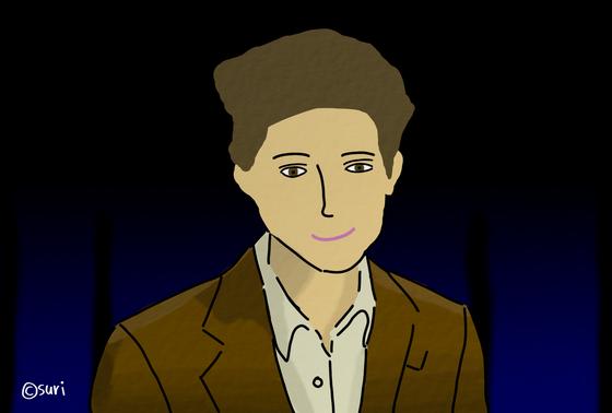 영화 '미스 스티븐스'에서 명장면이라 꼽는 티모시 샬라메의 독백 장면을 그려봤다. [그림 현예슬]