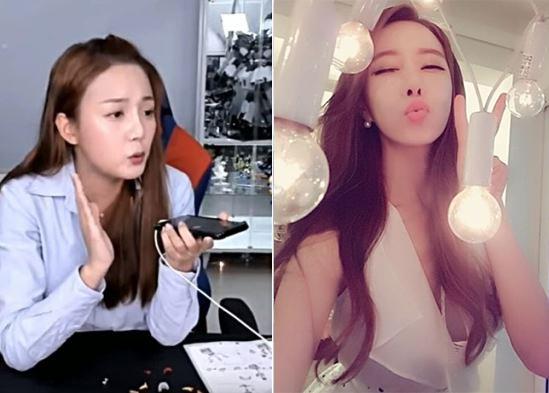 배우 강은비와 하나경. [사진 아프리카tv, 하나경 페이스북]