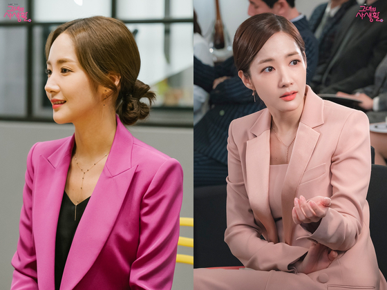 박민영 핑크 슈트. [tvN 그녀의 사생활 공식홈페이지]
