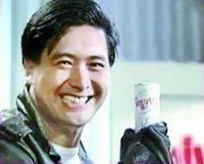 1989년 4월 당대 최고의 홍콩 배우였던 저우룬파가 출연한 밀키스 광고 . [사진 롯데칠성음료]