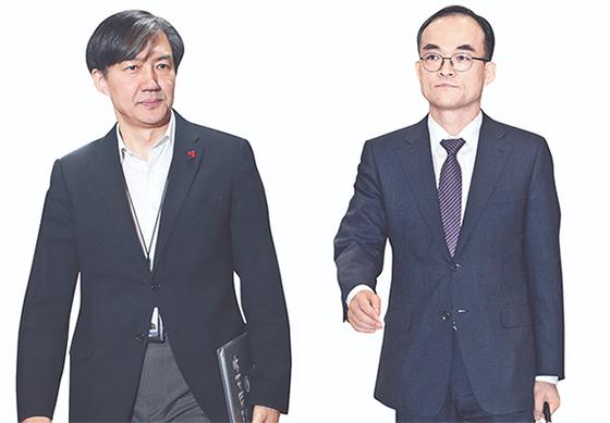 조국(左), 문무일(右). [연합뉴스]
