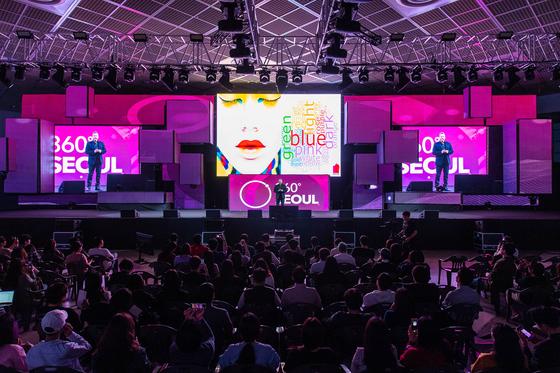 지난 2~6일 서울 삼성동 코엑스에서 'C페스티벌 2019'가 열렸다. 이번 행사로 약 1500억원의 경제파급효과가 창출된 것으로 집계됐다. 사진은 행사 콘텐츠 중 하나인 '360도 서울'의 모습. [사진 코엑스]