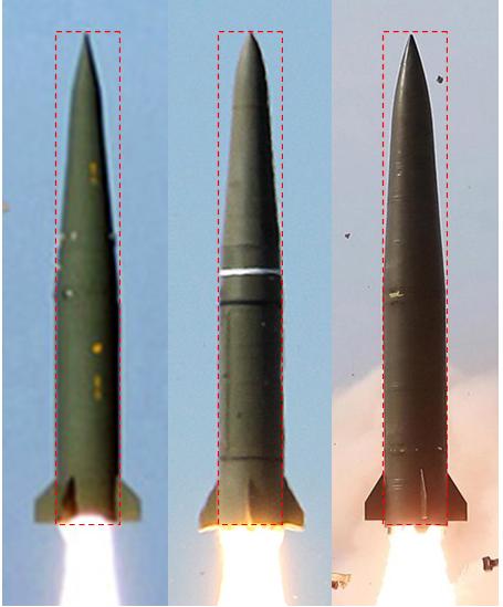 세 종류의 미사일의 크기와 모양이 유사하다. [마르쿠스 쉴러 트위터]