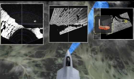 AESA 레이더가 공중 및 지상의 다양한 표적을 동시에 탐지 및 추적할 수 있다. 작전상황을 가상으로 구현해봤다. [국방과학연구소 제공]