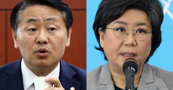 김관영 바른미래당 원내대표(왼쪽)과 이혜훈 바른미래당 의원. [뉴시스, 연합뉴스]