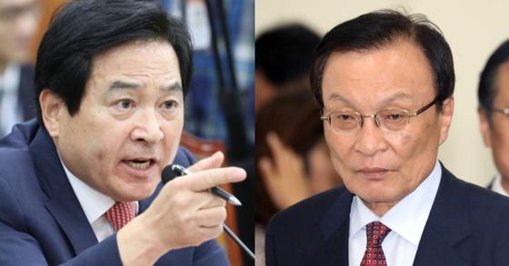 심재철 자유한국당 의원(왼쪽)과 이해찬 더불어민주당 대표. [연합뉴스, 뉴스1]