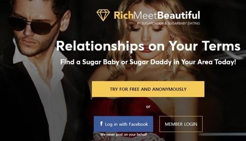대학생들에 부유한 중년과 데이트하라고 광고한 업체