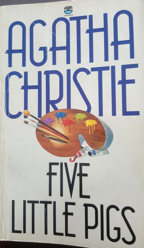 아가사 크리스티의 '다섯 마리 아기돼지 (원제 : Five Little Pigs, 1941)'. 영국 폰타나 출판사의 문고판 원서다. 1990년 종로 서적에서 구입했다. [사진 이광현]