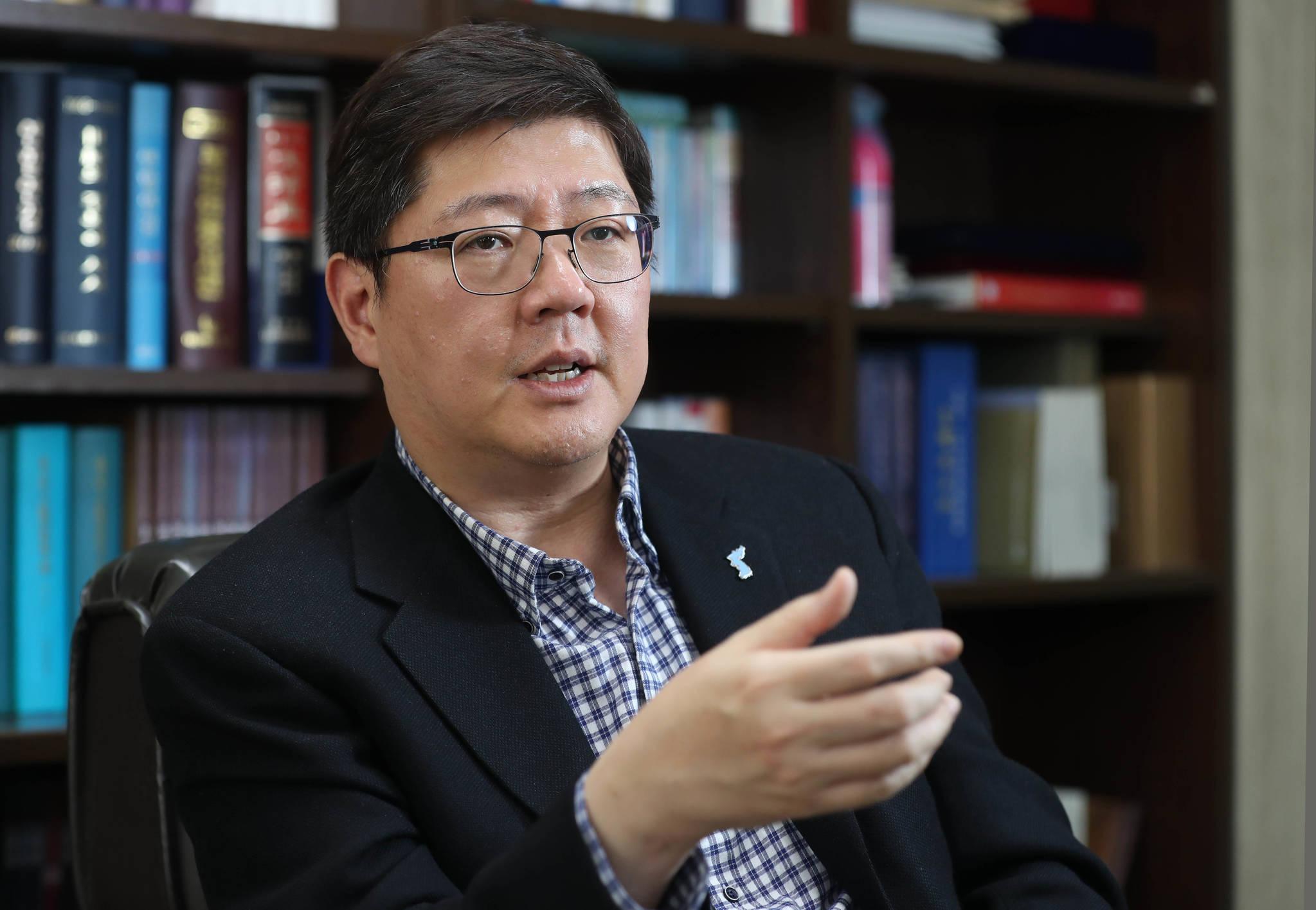 김홍걸 민족화해협력 범국민협의회 상임의장. [중앙포토]