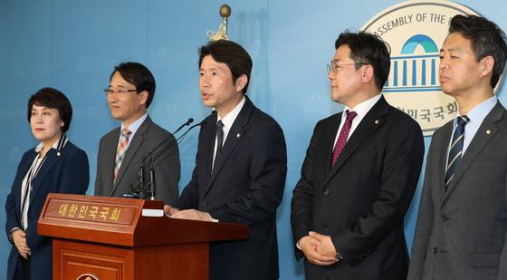 더불어민주당 4기 원내대표단. [연합뉴스]