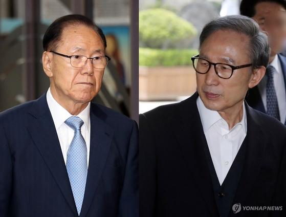 김백준 전 청와대 총무기획관과 이명박 전 대통령 [연합뉴스]