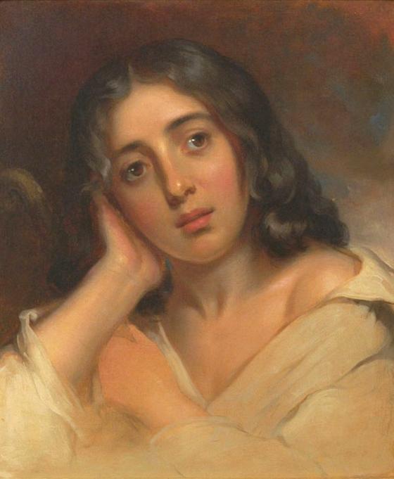 22세의 조르주 상드. Thomas Sully 그림. 1826. Johnson Collection, Spartanburg, South Carolina USA 소장. [그림 Wikimedia Commons (Public Domain)]