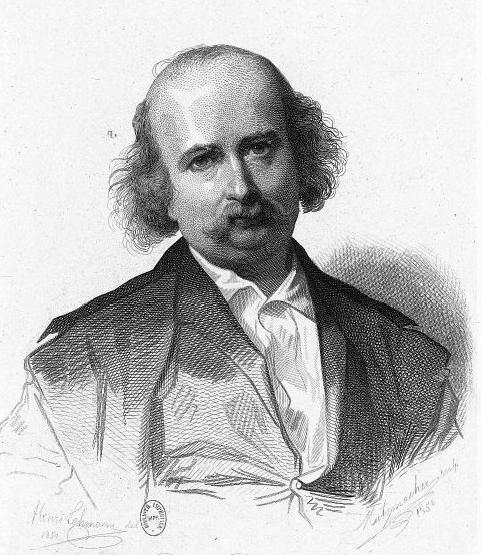 쥘 상도. Henri Lehmann의 원 그림을 Metzmacher가 가필(혹은 복사). 1858. 프랑스 국립도서관 소장. 그는 1858년 프랑스 학술원의 회원으로 선출되었다. 그의 이름 상도에서 상드라는 이름이 파생되었다. [그림 Wikimedia Commons (Public Domain)]