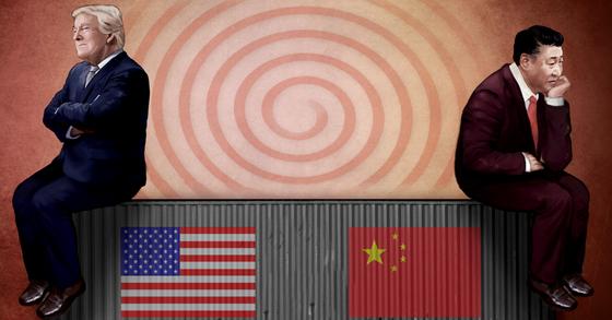 도널드 트럼프 대통령과 시진핑 중국 국가주석의 이미지. [연합뉴스]