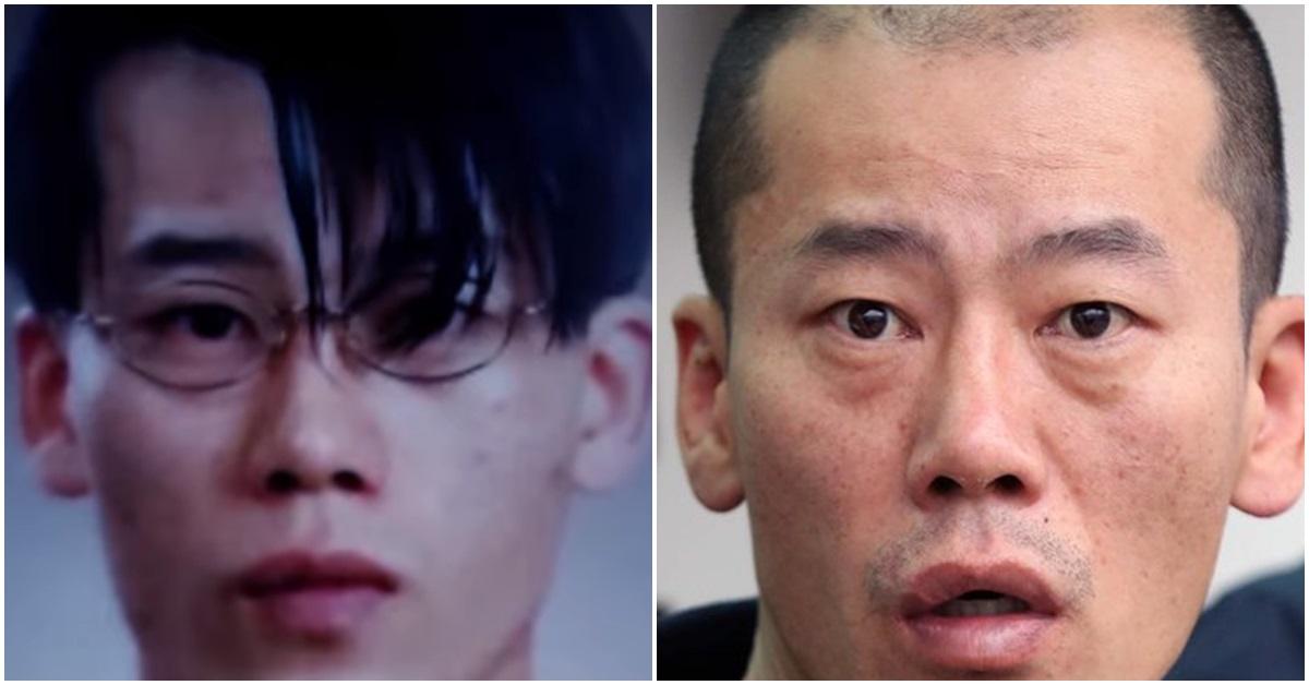 20대 시절 안인득(왼쪽)과 지난달 언론에 공개된 안인득 얼굴. [사진 JTBC 방송 캡처, 연합뉴스]