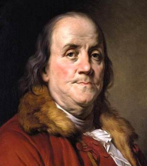 미국 건국의 아버지라 불리는 과학자이자 정치가, 철학자인 벤저민 프랭클린(Benjamin Franklin). [사진 위키미디아커먼(퍼블릭도메인)]