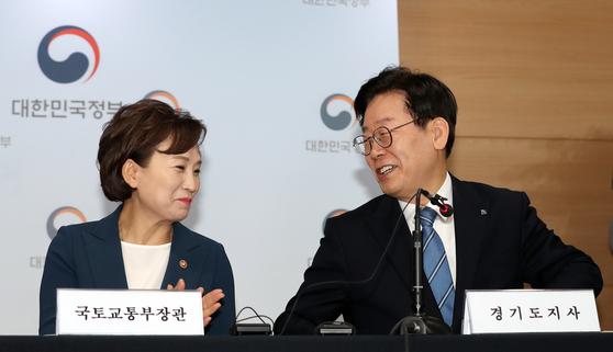 김현미·이재명 함께 웃었다···그뒤엔 3기 신도시 당근