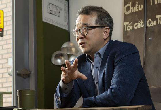 정인섭 대표가 베트남 시장과 콩카페에 대해 설명하고 있다. [사진 콩카페코리아]