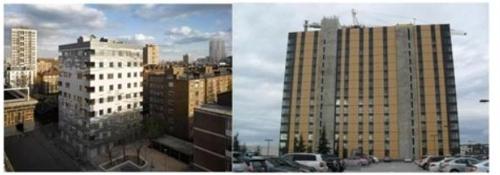영국 런던 슈타트하우스(왼쪽)과 캐나다의 UBC 기숙사 건축 모습. [ 국립산림과학원 제공=연합뉴스 ]