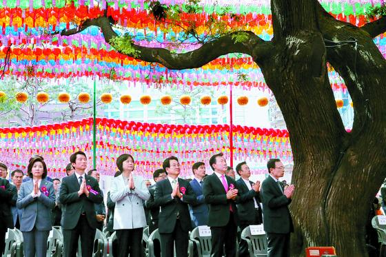부처님오신날 조계사 모인 정치권