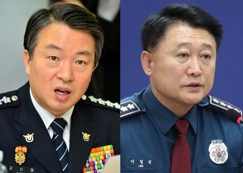 최근 구속영장이 청구된 강신명(좌측), 이철성 전 경찰청장. [중앙포토, 연합뉴스]