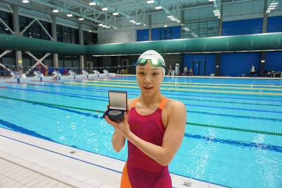 FINA 챔피언스 경영시리즈 2차 대회 개인혼영 200m에서 은메달을 딴 김서영. [사진 올댓스포츠]