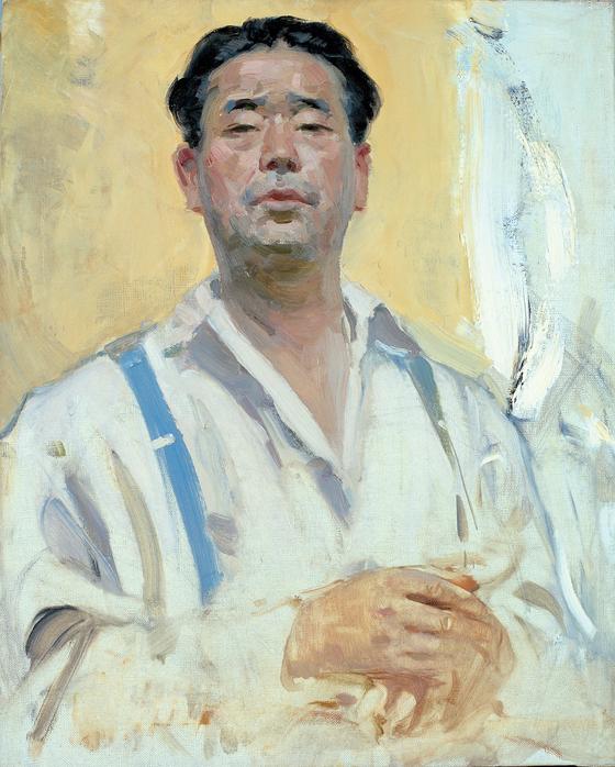 변월룡이 1963년 교국과의 인연을 끊기로 결심한 해에 그린 자화상. 미완성 작품이다.[사진 학고재갤러리]
