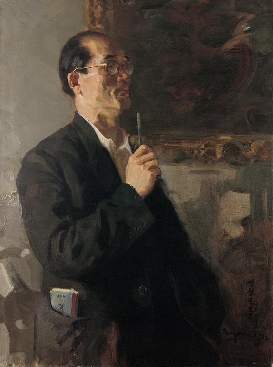 변월룡이 그린 '미술사학자 한상진'(1958). [사진 학고재]