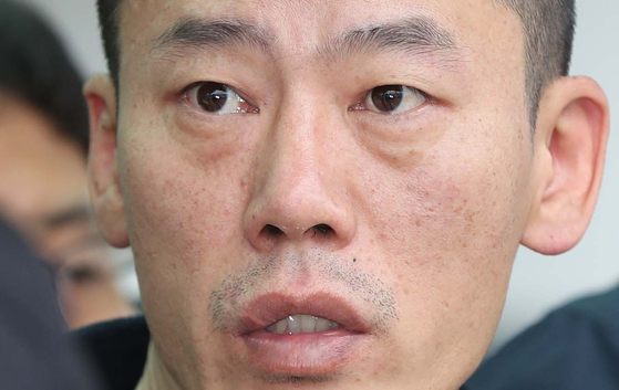 진주 아파트 방화·살인 혐의로 구속된 안인득(42). [연합뉴스]