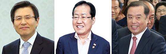황교안 홍준표 김병준(왼쪽부터). [연합뉴스·뉴시스]