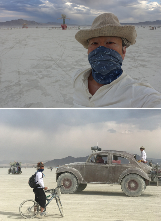 이성환 대표에게 새로운 깨달음을 얻게 해 준 '버닝 맨'이 열리는 사막 모습. [사진 이성환]
