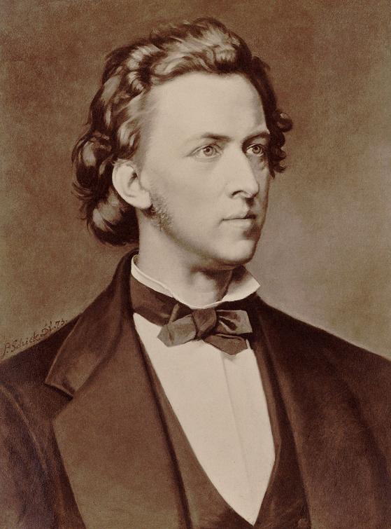 쇼팽(Frederic Chopin). 1873. P. Schick. [사진 위키미디아커먼(퍼블릭도메인)]