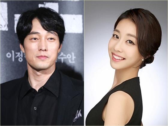 배우 소지섭과 조은정 아나운서. [이매진 아시아=뉴스1]