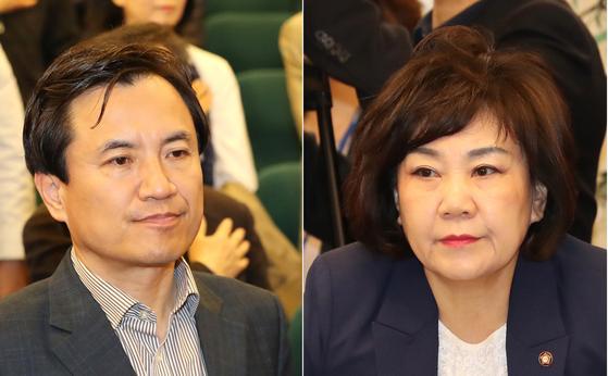 '5·18 망언'으로 논란을 일으킨 자유한국당 김진태(왼쪽)·김순례 의원. [연합뉴스]