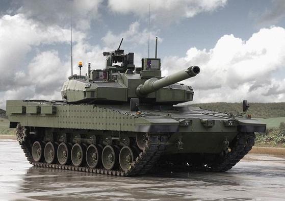 한국 기술을 도입해 터키에서 만든 알타이(Atlay) 전차, 한국 K2 흑표 전차를 바탕으로 포탑 등 일부 개량했다. [사진 터키 국방부]