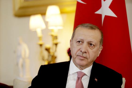지난해 5월 영국을 방문한 레제프 타이이프 에르도안 터키 대통령. [AP]