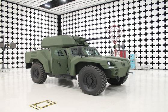 터키의 방산업체인 오토카가 개발한 신형 전기 장갑차 아르케프(Akrep) II.  [사진 bizimsakarya.com.tr]