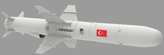 터키의 대함 미사일 ATMACA. 바다 위를 스치듯 비행하는 능력을 갖고 있다. [사진 Rocketan]