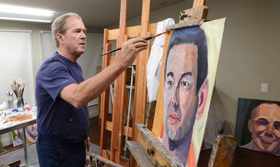 조지 부시 전 미국 대통령은 2009년 퇴임 후 화가로 변신했다. [사진 조지 부시 대통령 센터]