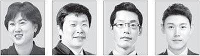 왼쪽부터 김은미, 박창운, 허혁재, 엄기현.