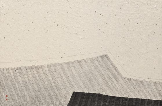 강미선, '觀心- 靜中動3' ((2015, 한지에 수묵, 63x95cm), [사진 아트사이드 갤러리]